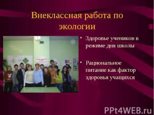 Здоровье учеников в режиме дня школы Здоровье учеников в режиме дня школы Рацион