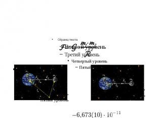Закон всемирного тяготения Ньютона гласит, что сила гравитационного притяжения м