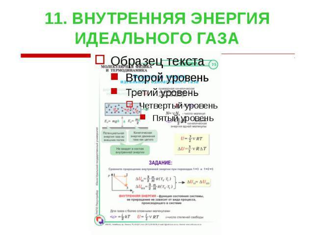 11. ВНУТРЕННЯЯ ЭНЕРГИЯ ИДЕАЛЬНОГО ГАЗА