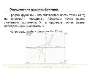 Определение графика функции. Определение графика функции. График функции - это м