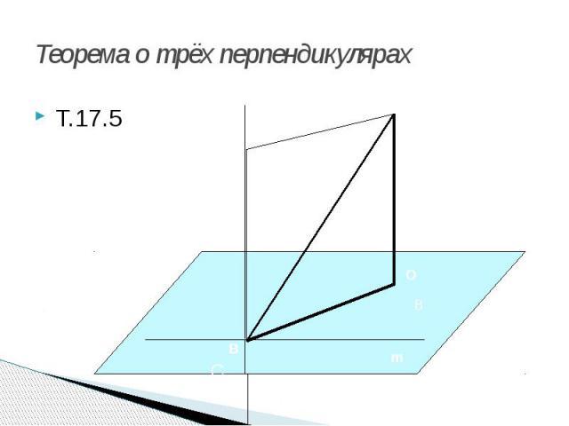 Теорема о трёх перпендикулярах Т.17.5