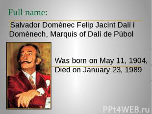 Full name: