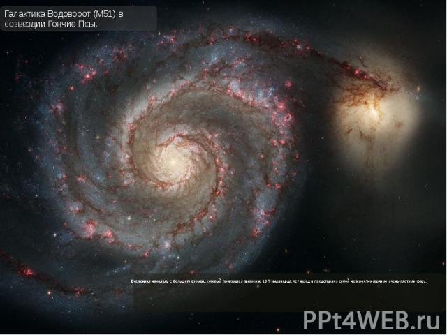 Вселенная началась с большого взрыва, который произошел примерно 13,7 миллиарда лет назад и представлял собой невероятно горячую очень плотную фазу. Вселенная началась с большого взрыва, который произошел примерно 13,7 миллиарда лет назад и представ…