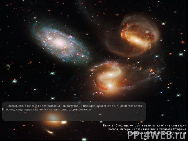 Космический телескоп Хабл позволил нам заглянуть в прошлое, добраться почти до истока времен. В период, когда первые галактики начали только формироваться. Космический телескоп Хабл позволил нам заглянуть в прошлое, добраться почти до истока времен.…