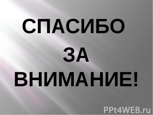 СПАСИБО СПАСИБО ЗА ВНИМАНИЕ!