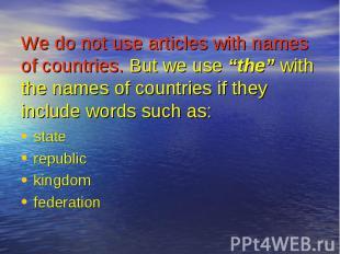 state state republic kingdom federation