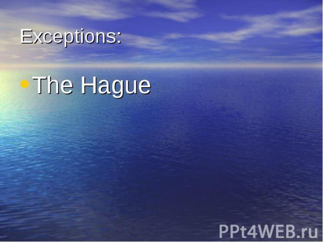 The Hague The Hague
