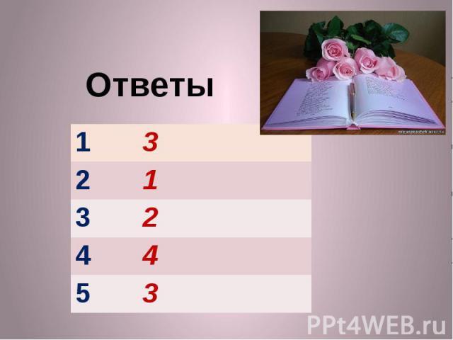 Ответы