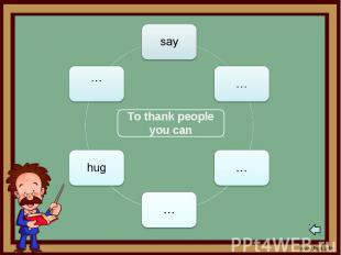 To thank people you can