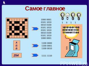 Самое главное1000 00010101 10100010 01000101 10100101 10100010 01000101 10101000