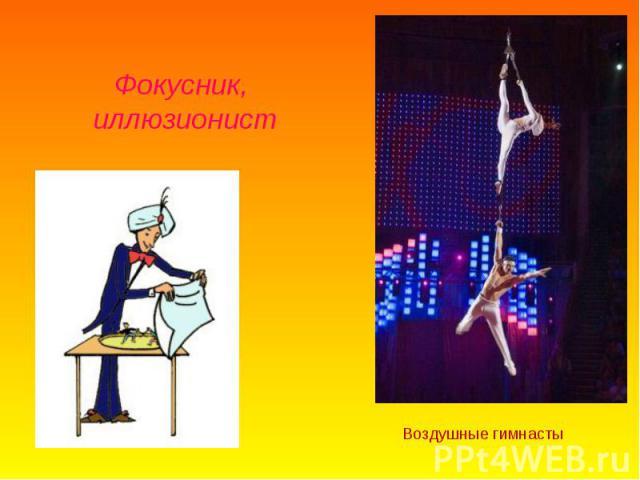 Фокусник, иллюзионистВоздушные гимнасты