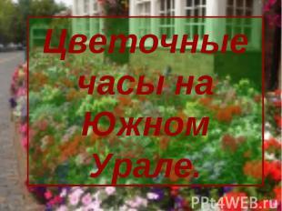 Цветочные часы на Южном Урале