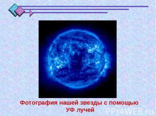 Фотография нашей звезды с помощью УФ лучей