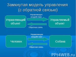 Замкнутая модель управления (с обратной связью)
