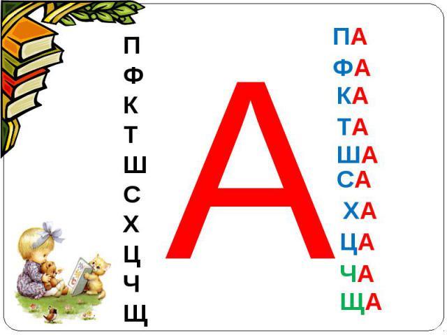 ПФКТШСХЦЧЩ