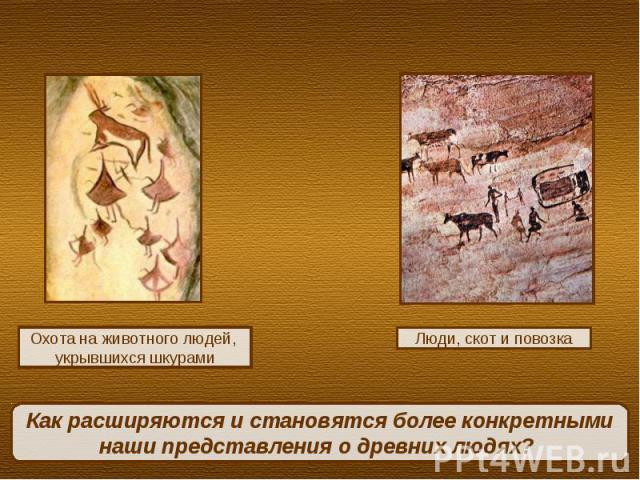 Как расширяются и становятся более конкретными наши представления о древних людях?
