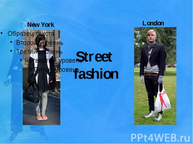 Street fashion New York London