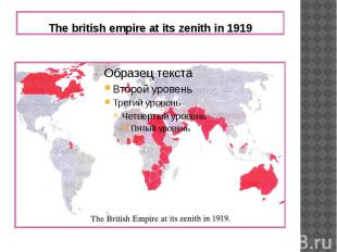 The british empire at its zenith in 1919