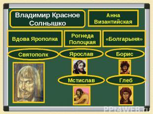 Владимир Красное СолнышкоАнна Византийская