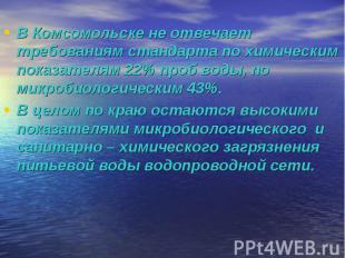 В Комсомольске не отвечает требованиям стандарта по химическим показателям 22% п