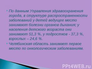По данным Управления здравоохранения города, в структуре распространенности забо