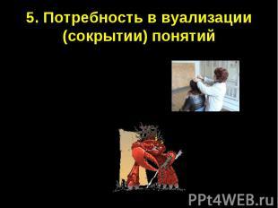 5. Потребность в вуализации (сокрытии) понятийПедикулёз (вшивость)Канцер (рак)