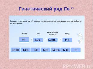 Генетический ряд Fe 2+