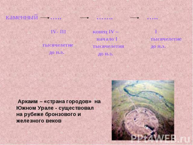 Аркаим – «страна городов» на Южном Урале - существовална рубеже бронзового и железного веков