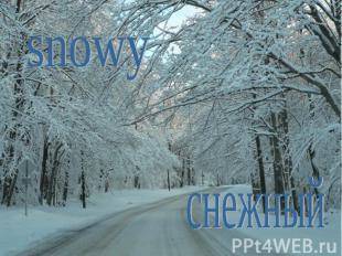 snowyснежный