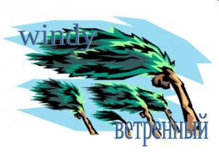 windyветренный