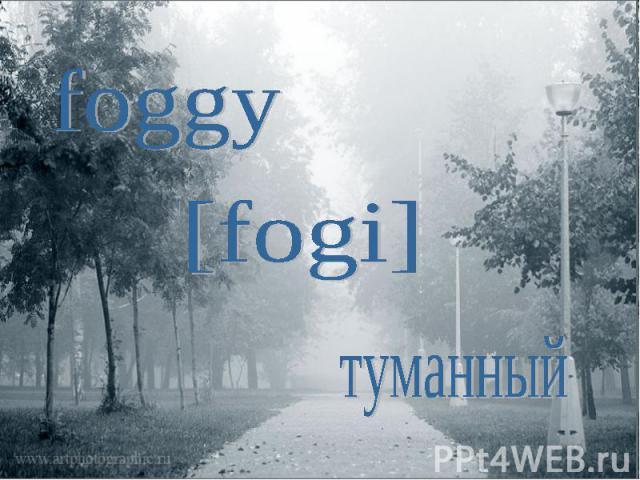 foggy[fogi]туманный