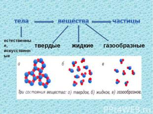 телаестественные,искусственныевеществатвердые жидкие газообразные