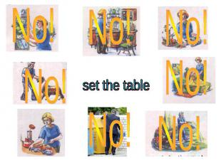 set the table