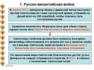 7. Русско-византийская войнаВ апреле 971 г. император Иоанн I Цимисхий лично выс