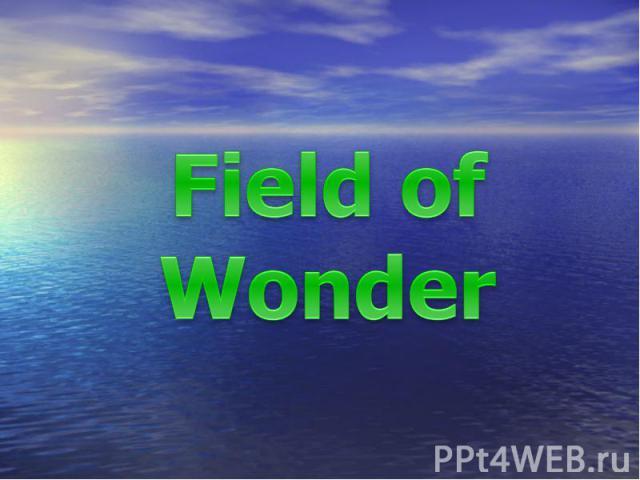 Field of Wonder