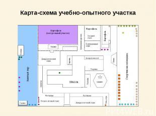 Карта-схема учебно-опытного участка