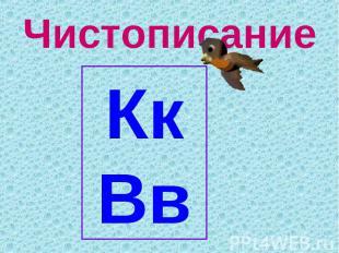 ЧистописаниеКкВв