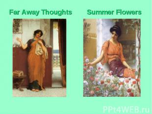 Far Away Thoughts Summer Flowers