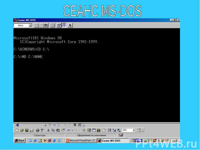 СЕАНС MS-DOS
