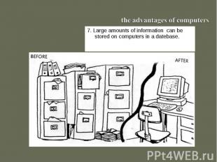 the advantages of computers7. Large amounts of information can be stored on comp
