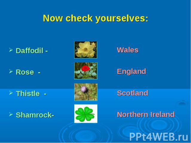 Now check yourselves:WalesEnglandScotlandNorthern Ireland