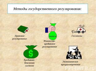 Методы государственного регулирования: