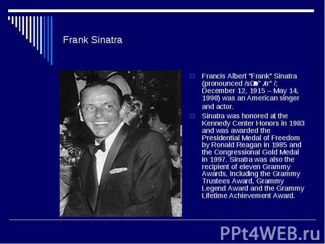 Frank SinatraFrancis Albert