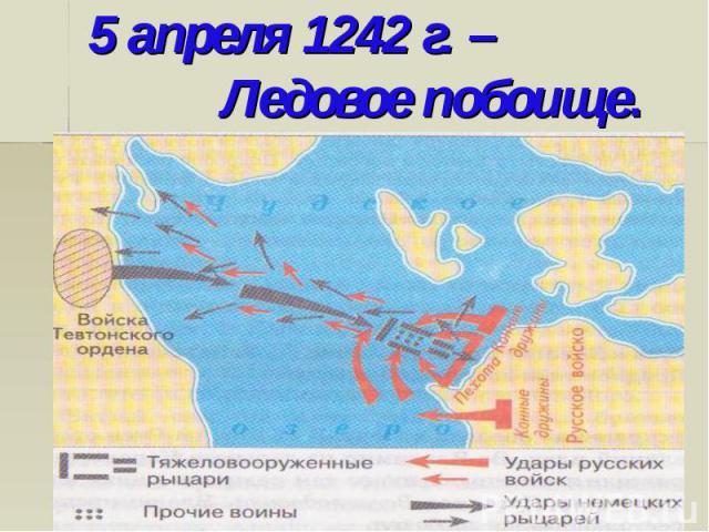5 апреля 1242 г. – Ледовое побоище.
