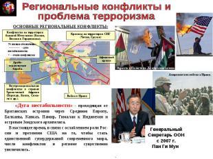 Региональные конфликты ипроблема терроризма «Дуга нестабильности» - проходящая о