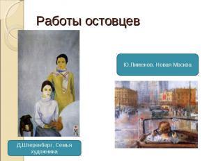 Работы остовцев Ю.Пименов. Новая Москва Д.Штеренберг. Семья художника