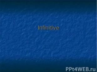 Infinitive