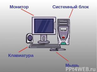 МониторСистемный блокКлавиатураМышь