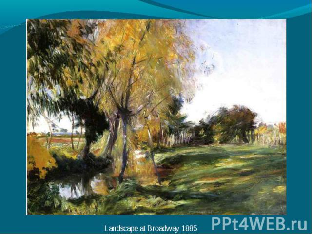 Landscape at Broadway 1885