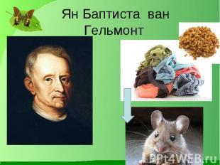 Ян Баптиста ван Гельмонт